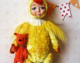 Souvenir teddy Souvenir teddy doll Teddy doll Stuffed teddy doll  Teddy chicken Teddy doll  chicken Teddy bird Bird