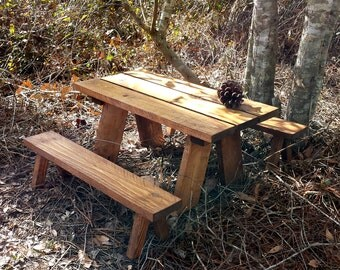 """18"""" Doll Picnic Table / 18"""" Doll Furniture / Picnic Table for 18"""" Doll / Doll Picnic Table / Kid's Toys/ Birthday Gift"""
