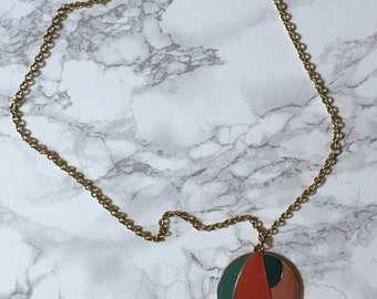 SALE...geometric sphere pendant necklace