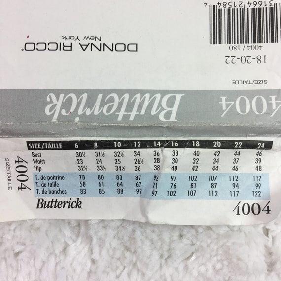 Butterick 4004 patrón de costura para señoritas Top y pantalones ...