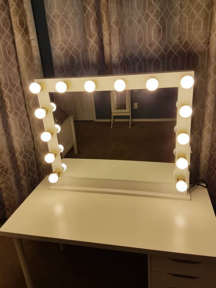 Vanity Mirror With Hollywood Lighting.Perfect For Ikea