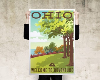 Ohio Travel Poster