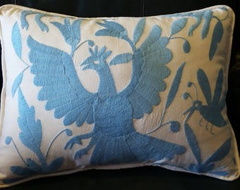 Light Blue Otomi Pillow