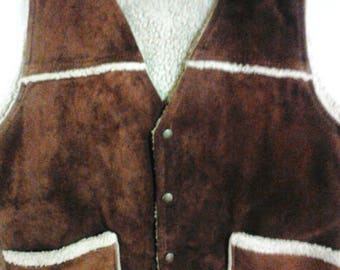 Men's Suede and Shearling Vest