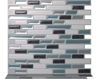 tic tac tiles high quality mosaic peel and stick wall tile in como marrone