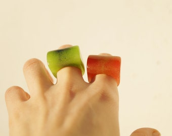 Rings Tutti Frutti-Resin jewerly