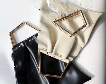 clear handbag. Plastic clear handbag.