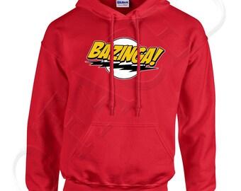 Bazinga Adults Hooded Outerwear Bazinga Men's Hoodies Big Bang Theory Sheldon Cooper Sweatshirt - 1192C