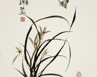 Chinese traditional painting orchid painting