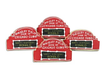 Chicago Cubs Wrigley Field Message Board Cookies - 2 Dozen