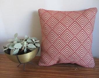 Red Art Deco Throw Pillow