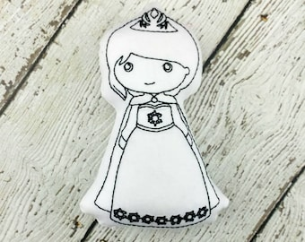 Ice Queen Color Doll - Princess Party - Party Favor - Color It Doll - Doodle Doll