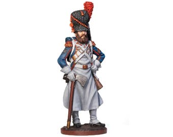 Tin Soldier, French Sapper, French Soldier, Historical Miniature, Military Miniature, Tin Warrior, Pewter Soldier, 54 mm, Napoleonic Wars