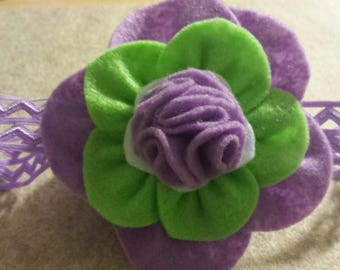 stretchable felt flower headband