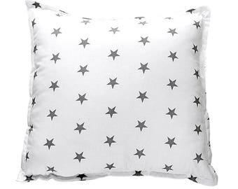 Pillow Square - Grey Stars