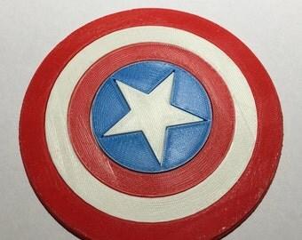 3D Printed Captain America Shield Coaster / Plaque