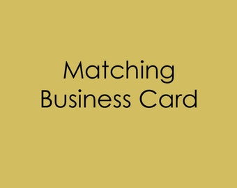 Made to Match Business Card