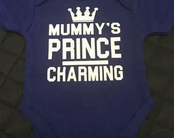 Mummys prince charming onesie
