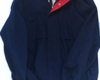 Knightsbridge Thick Windbreaker Jacket, Red Blue White - Vintage (1980s)