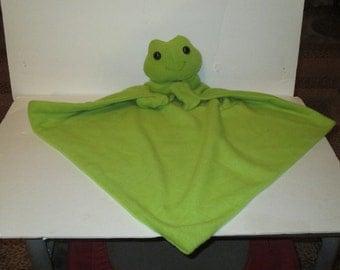 animal blankies frog