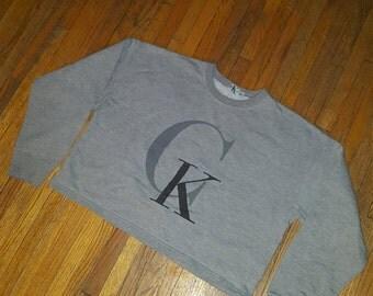 Vintage Calvin Klein cropped women's long sleeved sweatshirt