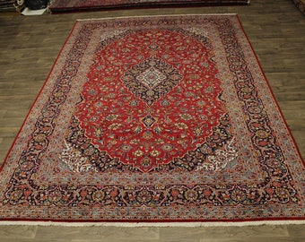 Traditional Palace Size S Antique Kashan Persian Rug Oriental Area Carpet 10X14