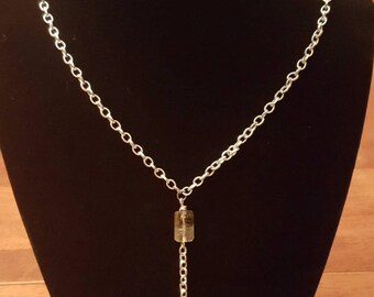 Smokey quartz Y Necklace