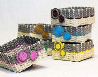 Baskets made of recycled paper
