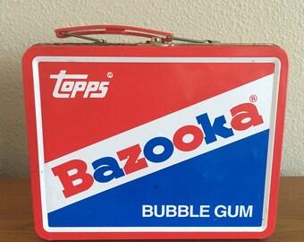 Vintage Bazooka Lunch Box- Bazooka Joe and Friends Tin Lunch Box- Topps Bazooka Gum Collectible Lunch Tin