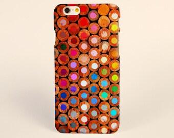 iPhone 7 Case, iPhone 7 plus Case, iPhone 6 Plus Case, iPhone 6 Case, iPhone 6s Case, iPhone 5s Case, iPhone Cases, Colorful Wood Pencils