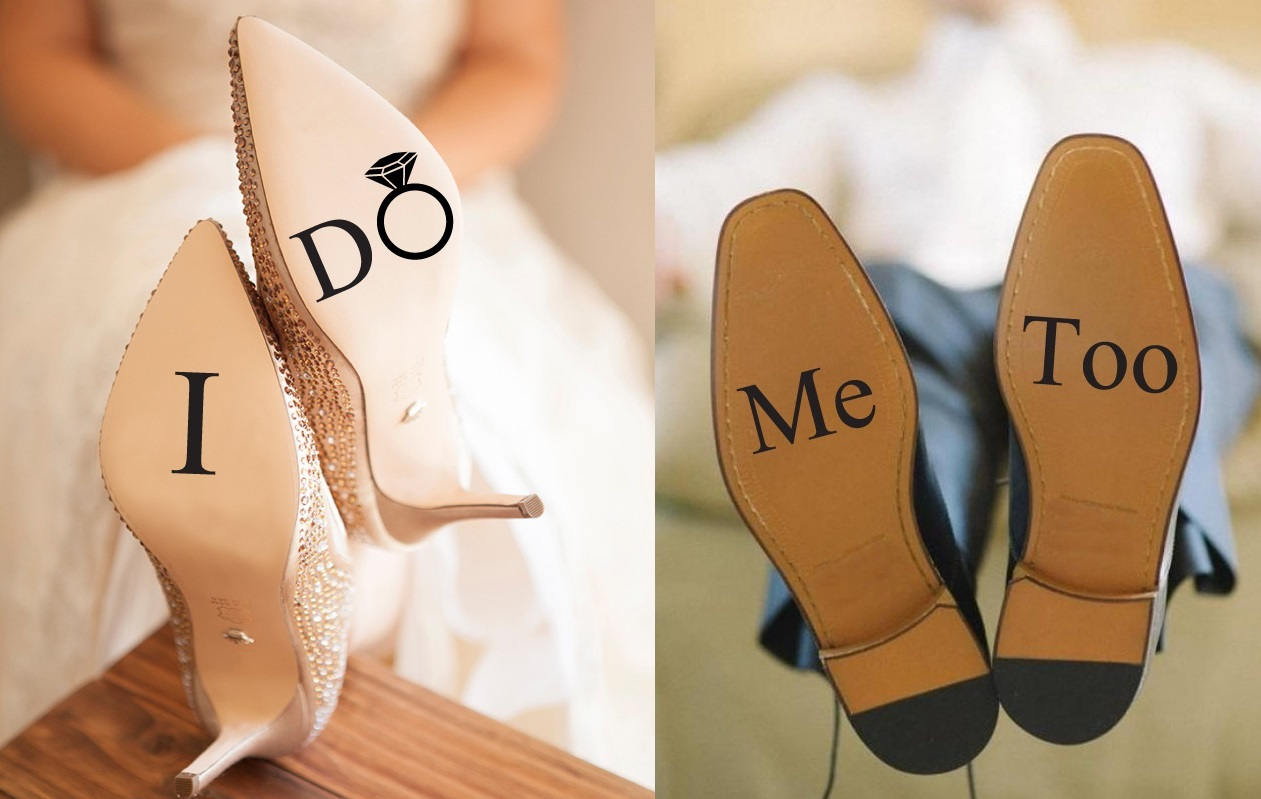 Wedding Decals Shoes Stickers Vinyl