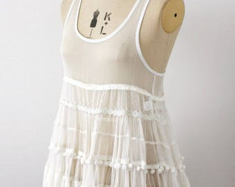 Flirty sheer vintage dress/top