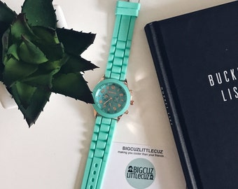 Bright Mint Green Watch