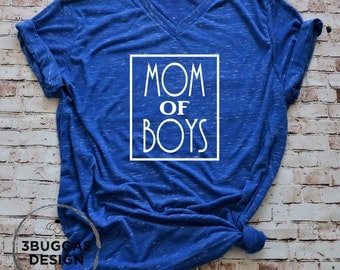 Mom of Boys, Boy Mom tshirt, Mom of Boys shirt, boy mom, raising boys, mom life, Mom with Boys,  tribe shirt, ain't no hood like motherhood