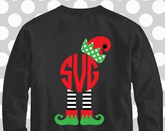 elf svg, elf feet svg, elf hat svg, elf monogram svg, Christmas svg, svgs, SVG, DXF, EPS, commercial use, santa svg, elf dxf
