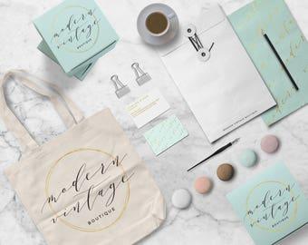 Custom Retail Store Branding Kit - Mood Board, Custom Logo Design, Custom Stationery, Print, Label Design, Packaging, Business Identity