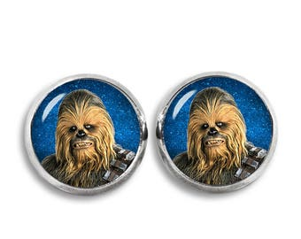 Chewbacca Stud Earrings Chewie Wookiee Earrings 12mm Fandom Jewelry  Geeky Fangirl Fanboy