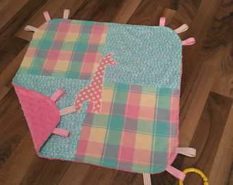Baby Blanket Tag Minky | Baby Gift