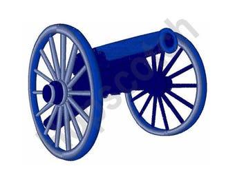 Civil War Cannon - Machine Embroidery Design