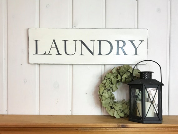 laundry sign laundry room decor rustic wood sign sign