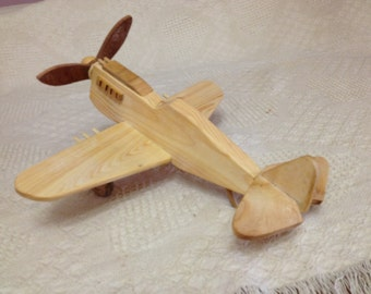 Wood Airplane P-40 Fighter  With Guns
