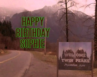 TWIN PEAKS 1/4 Edible Frosting Icing Sheet Cake Topper Image Customized Personalized Birthday 1st Party Custom Decoration