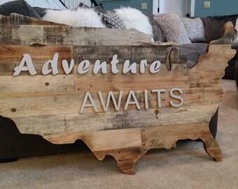 Rustic United States adventure wall art