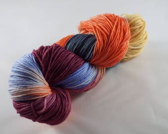 handdyed yarn, hand-dyed Merino Wool, Merino