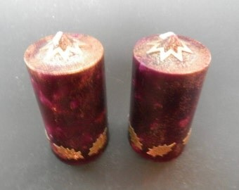 Christmas Candles, Pillar Candle, Christmas Decor, Glitter Candle, Handmade Candle