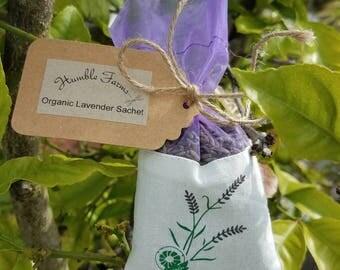 Organic Lavender Sachet 2 Pack