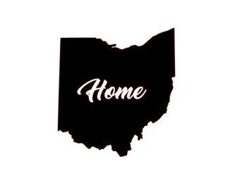 Ohio Home Decal Etsy - Custom vinyl decals cleveland ohio