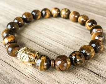 Boy's Gold Tiger Eye Bracelet