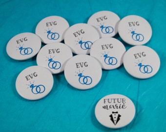 11 badges EVG + groom