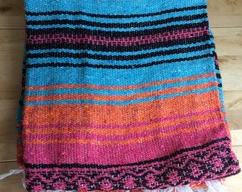 Mexican blanket, meditation, yoga, road trip, travel, bohemian, picnic